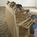 Štefan PAPČO - The Main Crest of the High Tatras, 2008, plywood, climbing holds used for 8 years, 400x130x42 cm